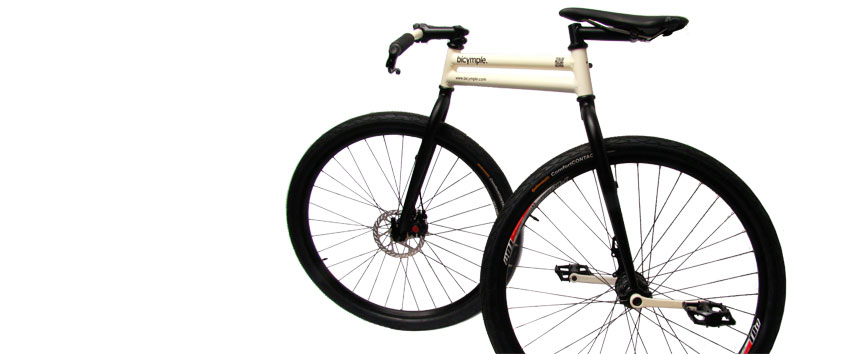 bicymple: a bicycle, simplified.